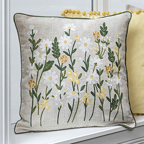 Field Flowers Pillow Cover