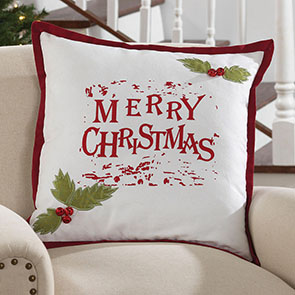 Merry Christmas Bells Pillow Cover