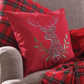 Reindeer Crest Pillow Cover