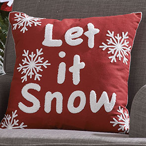 Let it Snow LED Pillow Cover