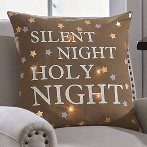 Silent Night LED Pillow Cover