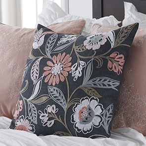 Pink Flowers Pillow Cover