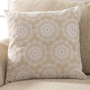 Lacy Flowers Pillow Cover