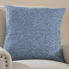Nubby Pillow Cover, Blue