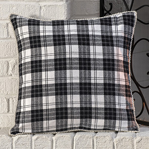Black & White Plaid Pillow Cover