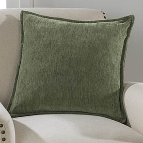 Chenille Pillow Cover, Olive Green