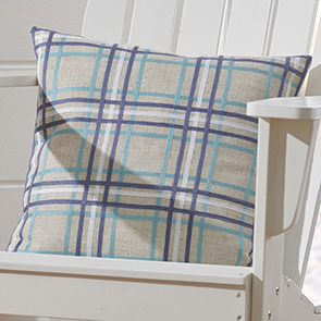 Blues Plaid Pillow Cover