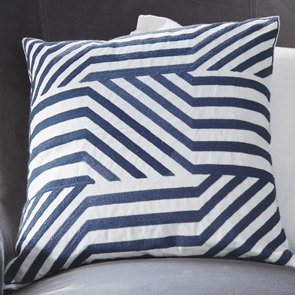 Navy Geometric Pillow Cover