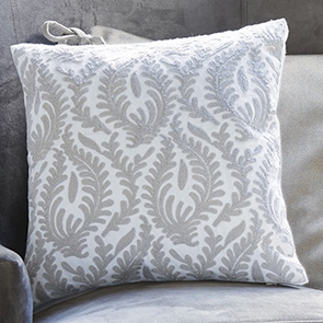 Gray Leaf Pillow Cover