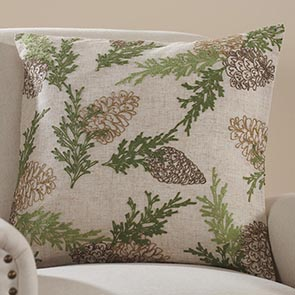 Pine Bough Pillow Cover