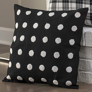 White Tufts Pillow Cover