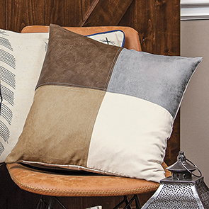 Suede Squares Pillow Cover