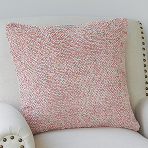 Chenille Pillow Cover, Rose