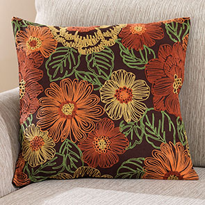 Harvest Flowers Pillow Cover