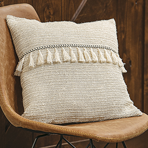 Woven Tassel Pillow Cover