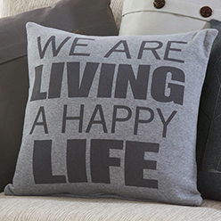 Happy Life Pillow Cover