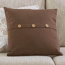 Button Pillow Cover, Brown