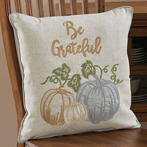 Be Grateful Pillow Cover
