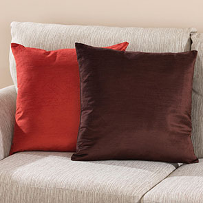 Reversible Pillow Cover,Brown/ Rust