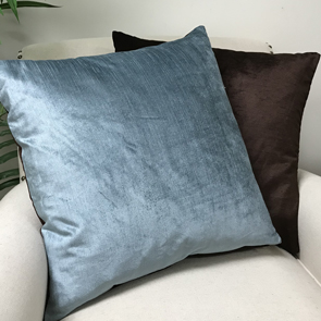 Reversible Pillow Cover,Blue/ Brown