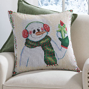 Chilly Snowman Pillow Cover