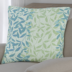 Leaf Quilted Pillow Cover