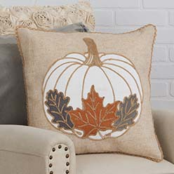 White Pumpkin Pillow Cover