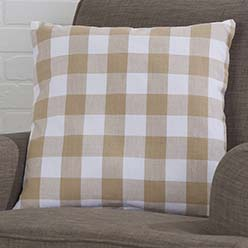 Buffalo Check Pillow Cover, Tan