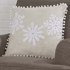 Snowflake Sparkle Pillow Cover
