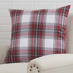 Red Black Plaid Pillow Cover