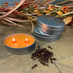 Falling Leaves Candle Tin Set/3