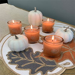 White Pumpkin & Clove Jar Candle Set/4