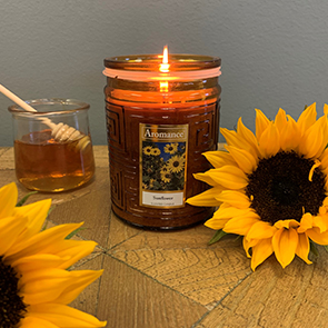 Sunflower Jar Candle