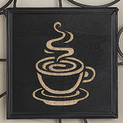 Coffee Cutout Insert