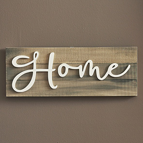 Slat Back Home Sign