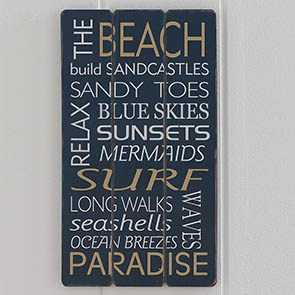 The Beach Sign