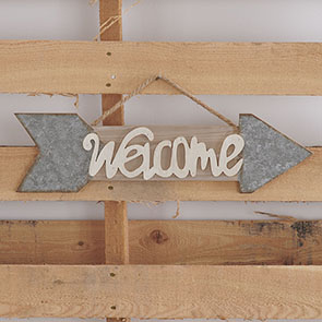 Arrow Welcome Sign