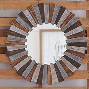 Wood Slat Mirror