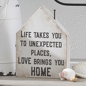 Love Brings You Home Sign