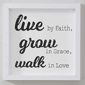 Live By Faith Sign