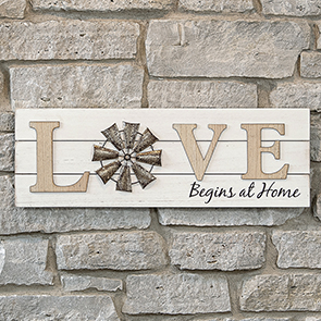 Love Begins at Home Sign