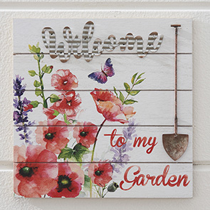 Welcome Garden Insert