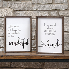 Wonderful Kind Sign Set