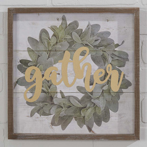 Gather Wreath Sign