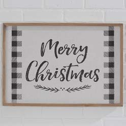 Check Merry Christmas Sign