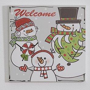 Snowman Family Welcome Insert