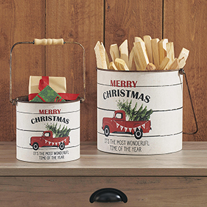 Merry Christmas Bucket Set