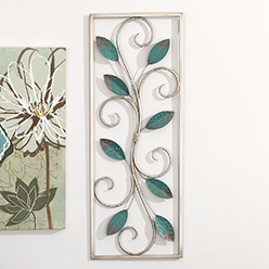 Teal Leaves Wall Decor
