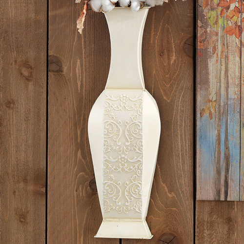 Aurora Wall Pocket/Vase, Antique Cream