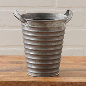 Ribbed Tapered Vase